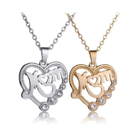 vente chaude tendances de la mode nouvelle fête des mères MOM mère amour creux collier en gros nihaojewelry NHCU232149's discount tags