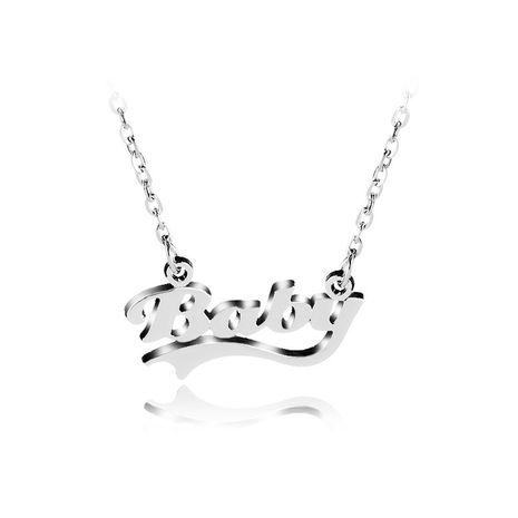 collier chaîne de clavicule simple lettres de personnalité bébé créatif fête des mères en gros nihaojewelry NHCU232154's discount tags