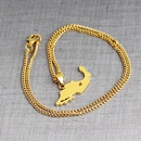 map shape pendant necklace clavicle chain simple Mexico map sweater chain necklace wholesale nihaojewelry NHCU232159