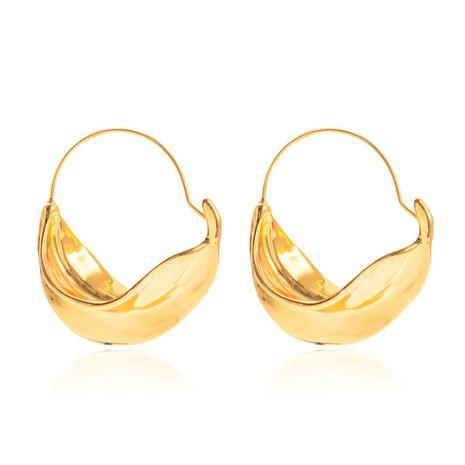 nouvelles boucles d'oreilles irrégulières panier de fleurs en métal boucles d'oreilles exagérées en gros nihaojewelry NHCU232160's discount tags