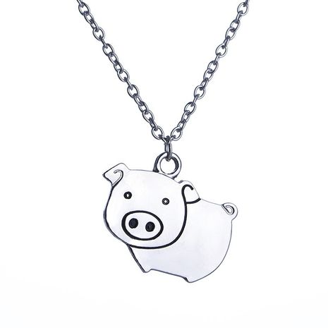 fashion  cute cartoon creative fashion piggy pig pendant necklace accessories wholesale nihaojewelry NHCU232165's discount tags