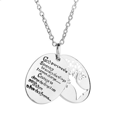 Fashion New Fashion Double Lettering English Alphabet Life Tree Pendant Necklace wholesale nihaojewelry NHCU232166's discount tags