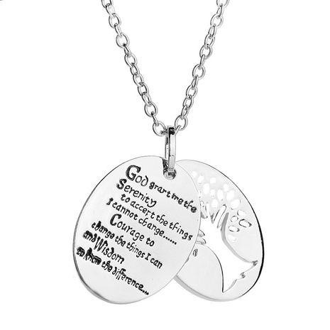 Mode Nouvelle Mode Double Lettrage Anglais Alphabet Vie Arbre Pendentif Collier en gros nihaojewelry NHCU232166's discount tags