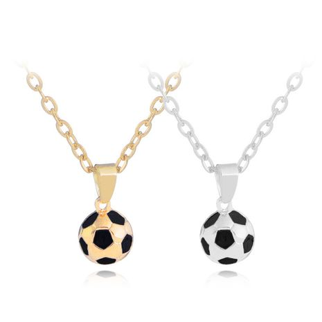 Creative World Cup Football Pendant Sweater Chain Necklace Hot Selling Necklace Women wholesale nihaojewelry NHCU232184's discount tags