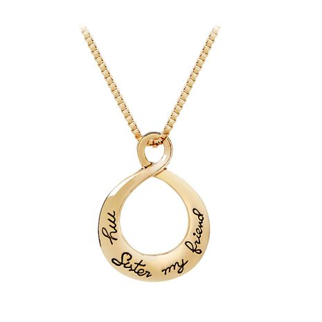 water drop necklace good sister My Sister My Friend hollow pendant necklace accessories wholesale nihaojewelry NHCU232190's discount tags
