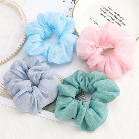 Korea fashion solid color fabric cloth large intestine hair scrunchies face wash hair rope wholesale nihaojewelry NHJE232211's discount tags