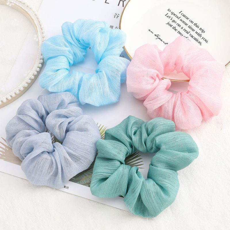 Korea fashion solid color fabric cloth large intestine hair scrunchies face wash hair rope wholesale nihaojewelry NHJE232211