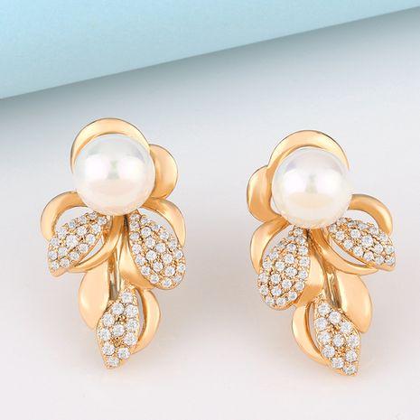 Coréen nouvelles boucles d'oreilles en perles féminité mode boucles d'oreilles en perles de fleur en gros nihaojewelry NHAS232212's discount tags