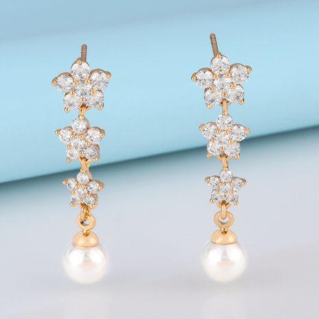 mode chic fille fleur gland boucles d'oreilles perles mignon boucles d'oreilles diamant gros nihaojewelry NHAS232214's discount tags