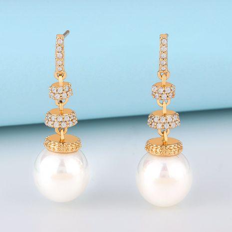 nouvelles boucles d'oreilles en perles de cuivre populaires boucles d'oreilles en perles coréennes en gros nihaojewelry NHAS232216's discount tags