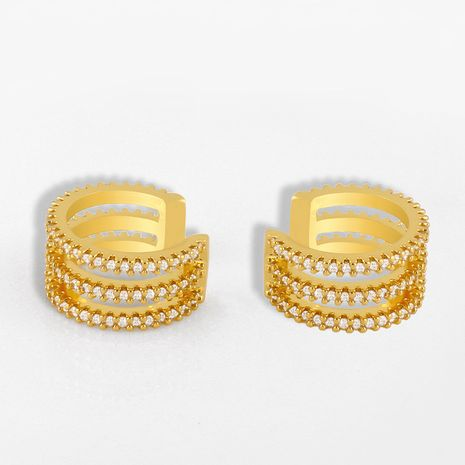 nouveau zircon en forme de C oreille clip créatif boucles d'oreilles sans oreilles simple oreille os clip oreille bijoux en gros nihaojewelry NHAS232215's discount tags