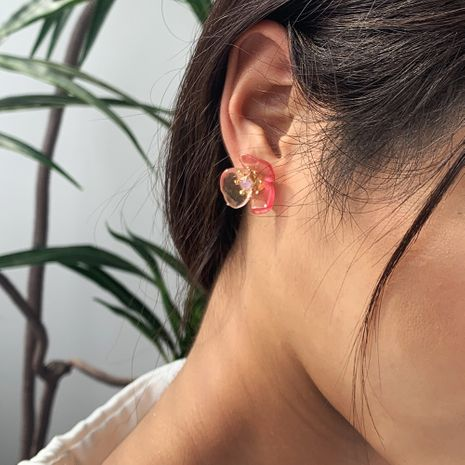 three-dimensional petal earrings Korean flowers super fairy earrings daily wild earrings wholesale nihaojewelry NHMD232222's discount tags