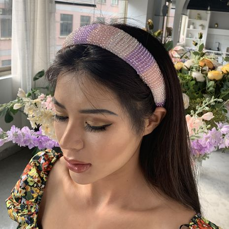Korean  hot sale New Fashion Sponge Sequin Prom Hair headband  wholesale nihaojewelry NHMD232226's discount tags
