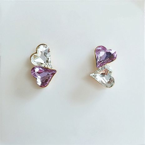 mode coréenne inaild diamant amour courtes boucles d'oreilles simples en gros nihaojewelry NHVA232233's discount tags