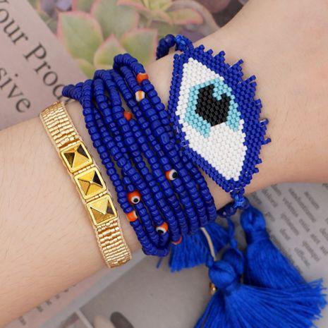 Beaded Bracelet Set Fashion National Style Miyuki Mizhu Beading Eye Tassel Handmade Jewelry wholesale nihaojewelry NHGW232247's discount tags