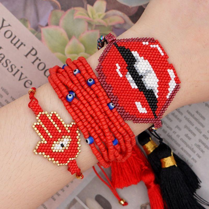 Summer multilayer tassel bracelet Miyuki Mizhu handmade jewelry wholesale nihaojewelry NHGW232253