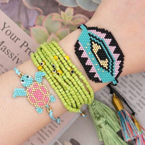 Cuentas de arroz Miyuki tejen ojos borla de múltiples capas de moda con joyería hecha a mano de estilo nacional al por mayor nihaojewelry NHGW232255's discount tags