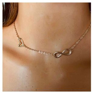 fashion style metal clavicle chain fashion wild texture exaggerated necklace wholesale nihaojewelry NHCT232287's discount tags