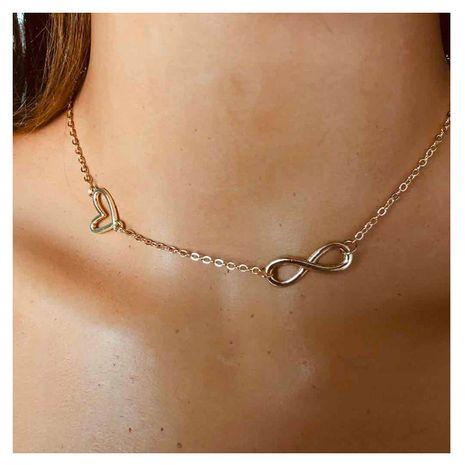 estilo de la moda cadena de clavícula de metal moda salvaje textura collar exagerado al por mayor nihaojewelry NHCT232287's discount tags