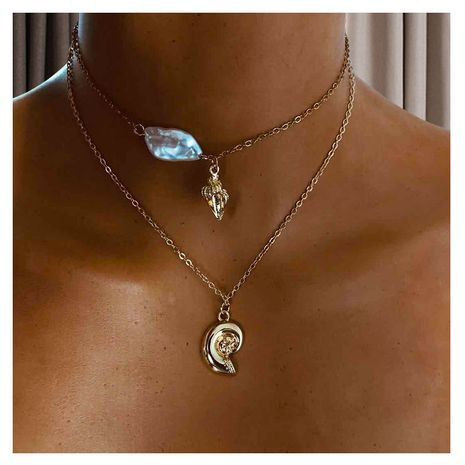 fashion jewelry alloy pendant simple clavicle chain fashion necklace wholesale nihaojewelry NHCT232288's discount tags