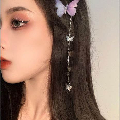 Variety butterfly girl three-dimensional lace butterfly hairpin new side clip headdress wholesale nihaojewelry NHYQ232295's discount tags