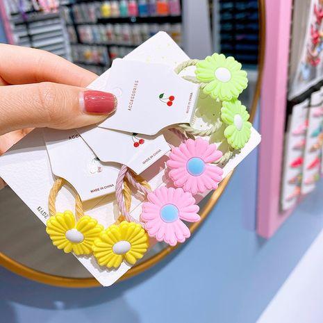 Nueva pequeña banda de goma margarita anillo para el cabello corbata para niños flores de color cabeza linda scrunchies baratos al por mayor NHSA232311's discount tags