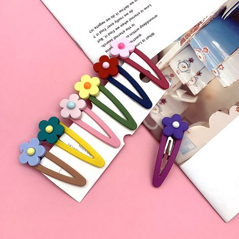 moda coreana nueva Linda dulce color de golpe linda flor horquilla salvaje BB clip simple accesorios para el cabello de cerámica suave NHSA232312's discount tags