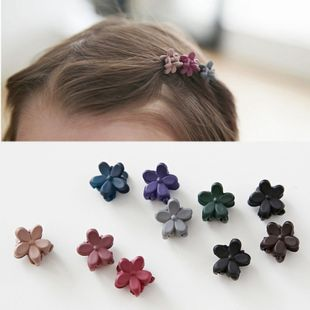 Korean children's hair accessories cute trumpet frosted flowers mini hairpin girls baby catch clip hairpin wholesale NHSA232321's discount tags