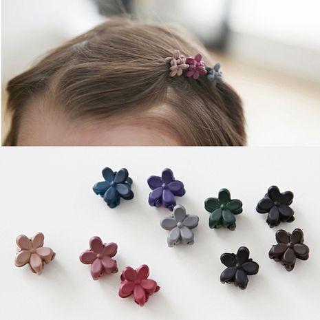 Accessoires de cheveux pour enfants coréens trompette mignonne fleurs givrées mini épingle à cheveux filles bébé clip de capture épingle à cheveux en gros NHSA232321's discount tags