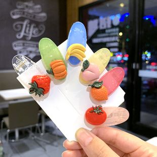 South Korea color bb clip fruit vegetable strawberry hair clip bangs clip back head jewelry wholesale nihaojewelry NHSA232323's discount tags