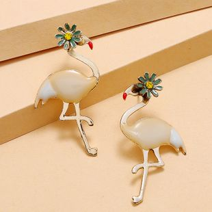 Korea fashion new sweet daisy bird earrings simple retro trend exaggerated long earrings wholesale nihaojewelry NHKQ232336's discount tags
