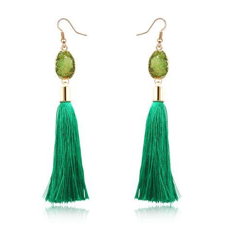 fashion new  natural stone  long tassel earrings retro natural stone earrings wholesale nihaojewelry NHGO232339's discount tags