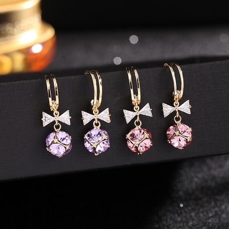 new bow earrings S925 silver needle earrings simple and small earrings wholesale nihaojewelry NHDO232345's discount tags