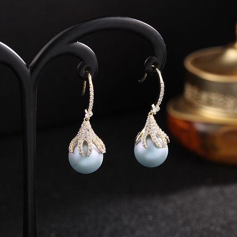 fashion jewelry imitation pearl earrings new wave simple Korean earrings wholesale nihaojewelry NHDO232349's discount tags