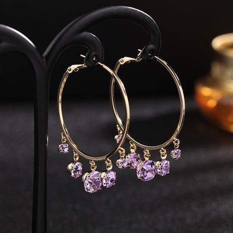 fashion jewelry rose gold trend fashion large circle retro earrings exaggerated design earrings wholesale nihaojewelry NHDO232350's discount tags