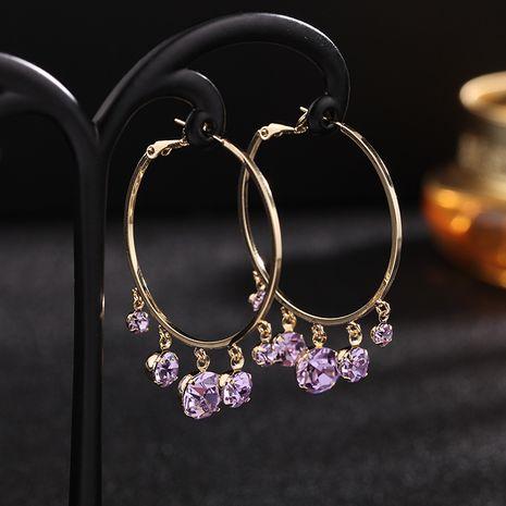 bijoux de mode tendance en or rose mode grand cercle boucles d'oreilles rétro design exagéré boucles d'oreilles en gros nihaojewelry NHDO232350's discount tags
