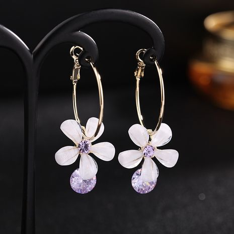 925 silver needle flower new wave of summer earrings high sense of wild Korean fashion earrings wholesale nihaojewelry NHDO232351's discount tags