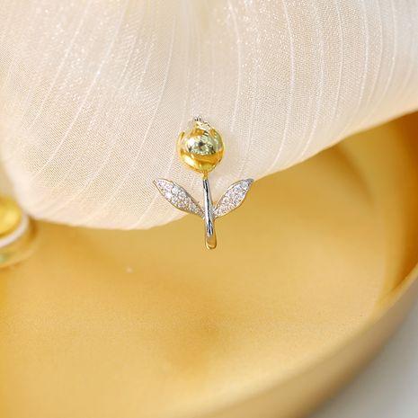 joyería sol flor hebilla antideslumbrante pareja de gama alta pin coreano ropa fija pequeño broche al por mayor nihaojewelry NHDO232352's discount tags