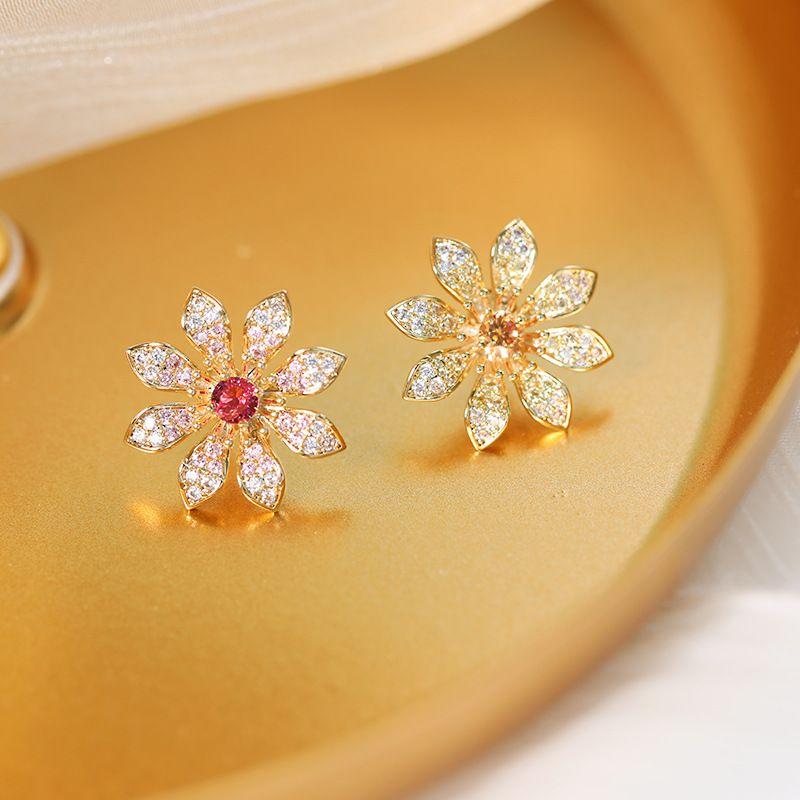 Daisy cute simple collar pin Korean brooch corsage shirt pin collar buckle decorative jewelry wholesale nihaojewelry NHDO232353