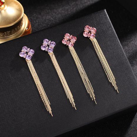 Fringe simple long earrings new wave Korean silver needle earrings wholesale nihaojewelry NHDO232359's discount tags