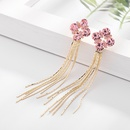 Frange simples longues boucles doreilles nouvelle vague corenne boucles doreilles aiguille dargent en gros nihaojewelry NHDO232359