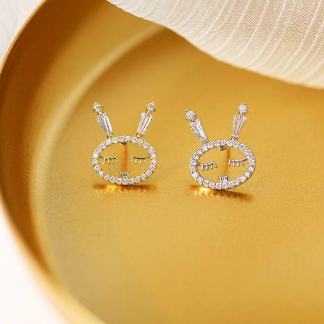 oro blanco conejo pin antideslumbrante collar flor camisa collar espina caballo pin pequeño broche al por mayor nihaojewelry NHDO232358's discount tags
