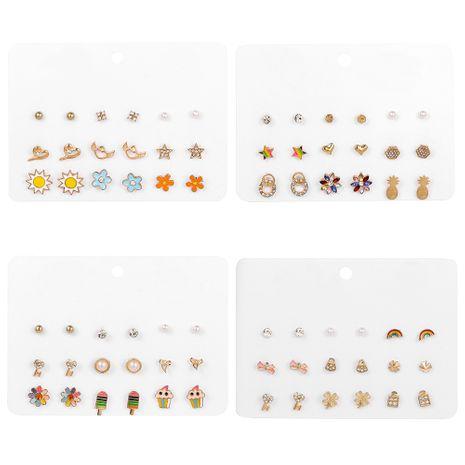 Nouvelle mode coréenne populaire 9 paires de boucles d'oreilles costume tendance sauvage goutte à goutte boucles d'oreilles dorées en gros nihaojewelry NHSD232373's discount tags