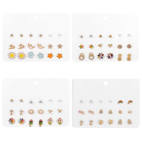 New Korean fashion popular 9 pairs of earrings suit wild trend drip golden earrings wholesale nihaojewelry NHSD232373's discount tags