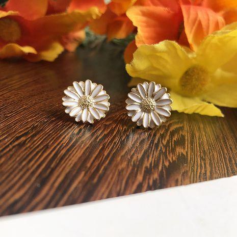 Korean popular jewelry forest flowers small daisy earrings sun flower hypoallergenic earrings wholesale nihaojewelry NHWF232397's discount tags