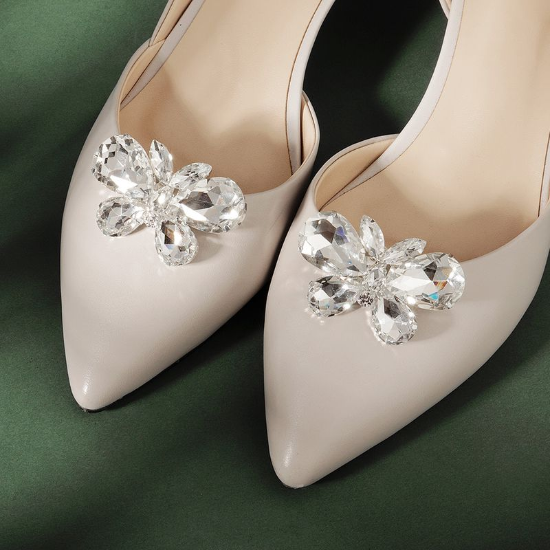 DIY bride wedding shoe decoration highlight water drop glass rhinestone shoe buckle wholesale nihaojewelry NHHS232437