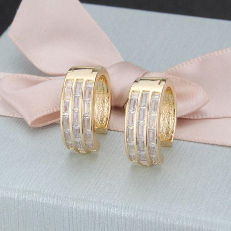 vente chaude incrusté carré zirconium boucles d'oreilles rondes nouvelles boucles d'oreilles de mode en gros nihaojewelry NHBP232439's discount tags