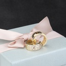 vente chaude incrust carr zirconium boucles doreilles rondes nouvelles boucles doreilles de mode en gros nihaojewelry NHBP232439