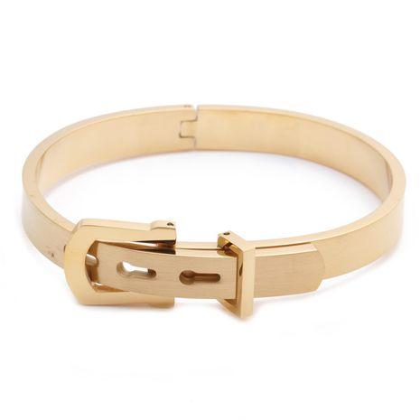 bijoux de mode alphabet romain boîte en acier inoxydable tressé bracelet ouvert bracelet pour hommes ensemble en gros nihaojewelry NHYL232474's discount tags