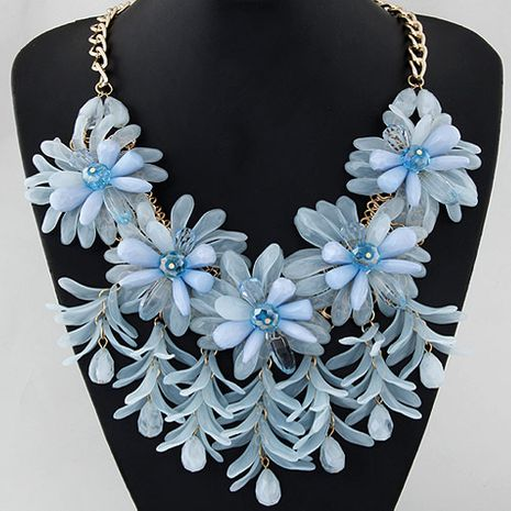 fashion trend simple candy flower show exaggerated temperament fashion necklace wholesale nihaojewelry NHSC232496's discount tags